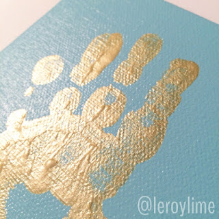 Golden Handprints - Kid Craft - LeroyLime