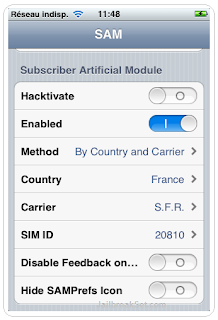 iPhone with SAM Baseband 4.11.08