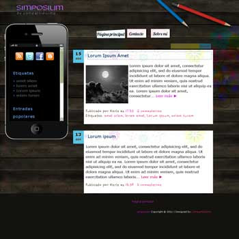 Simposium blogger template. fixed sidebar blogger template