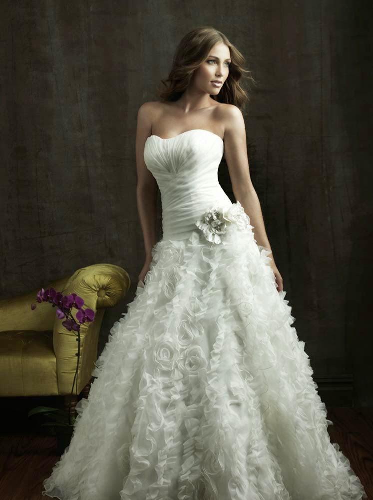 Elegant Rose Wedding Dresses Allure Design pictures hd