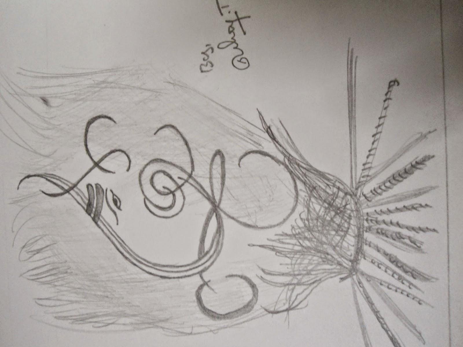 Some more pencil drawings and pencil sketching images of lord ganapathi ganesha ganapathy