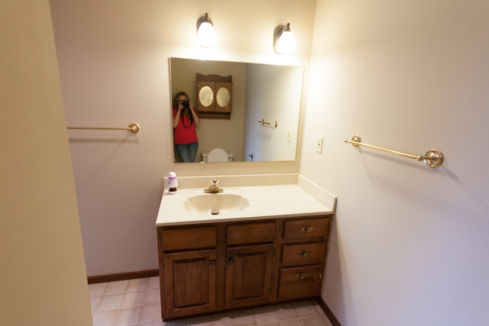 bathroom vanity with off center sink