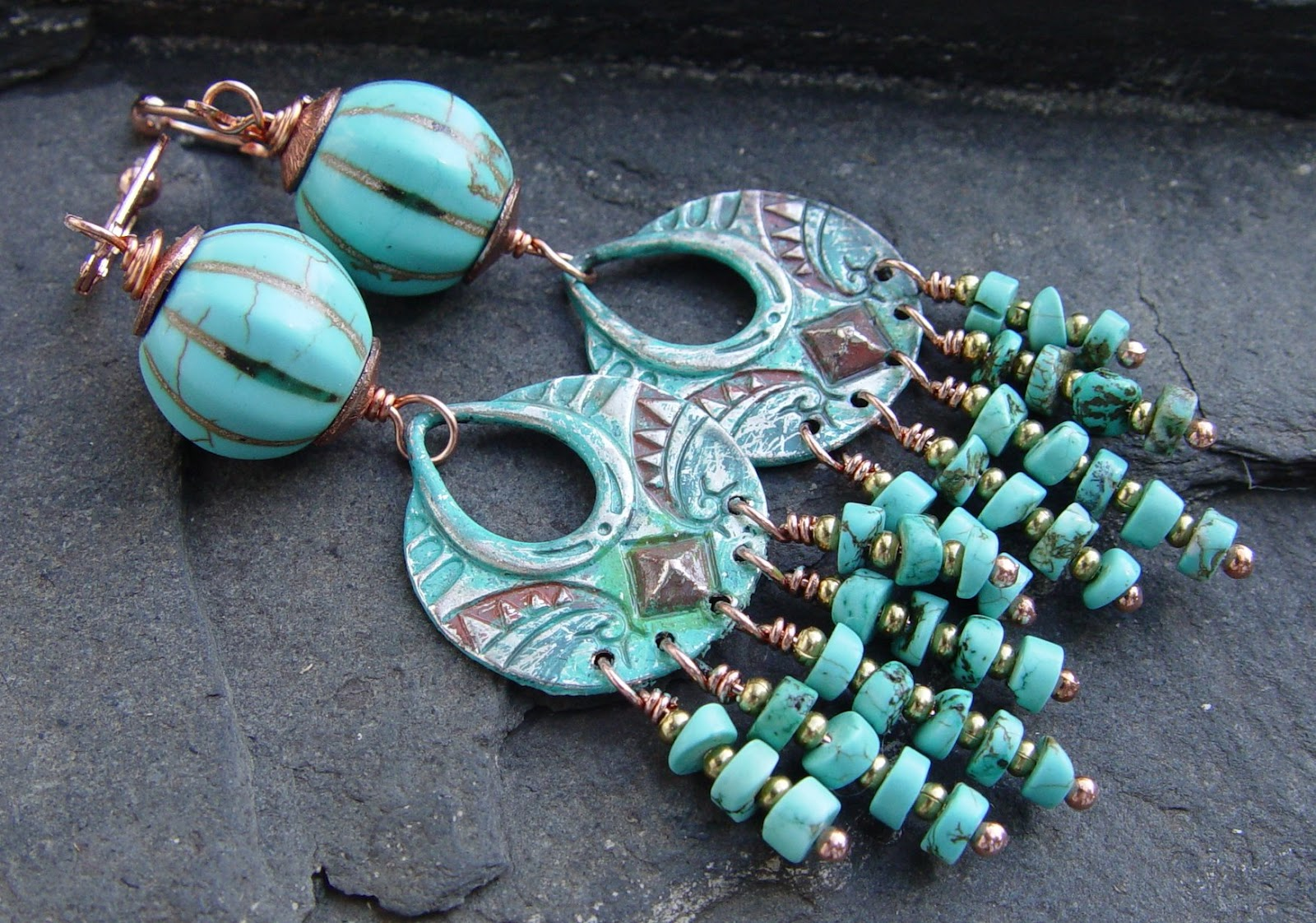 Handcrafted artisan jewelry : Jean a wells handcrafted artisan jewelry gypsy earrings