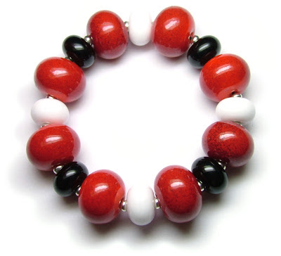 Lampwork glass beads for Comic Relief
