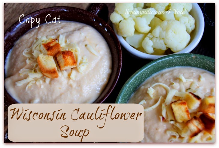 Cheese Cauliflower Soup Recipe Copy Cat