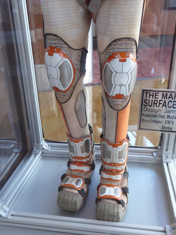 Spacesuit legs costume detail The Martian