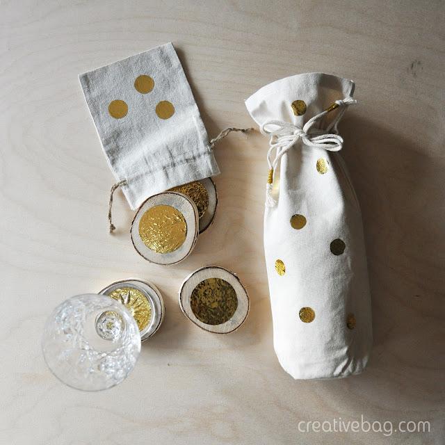 diy gold foil gift bags   Creative Bag