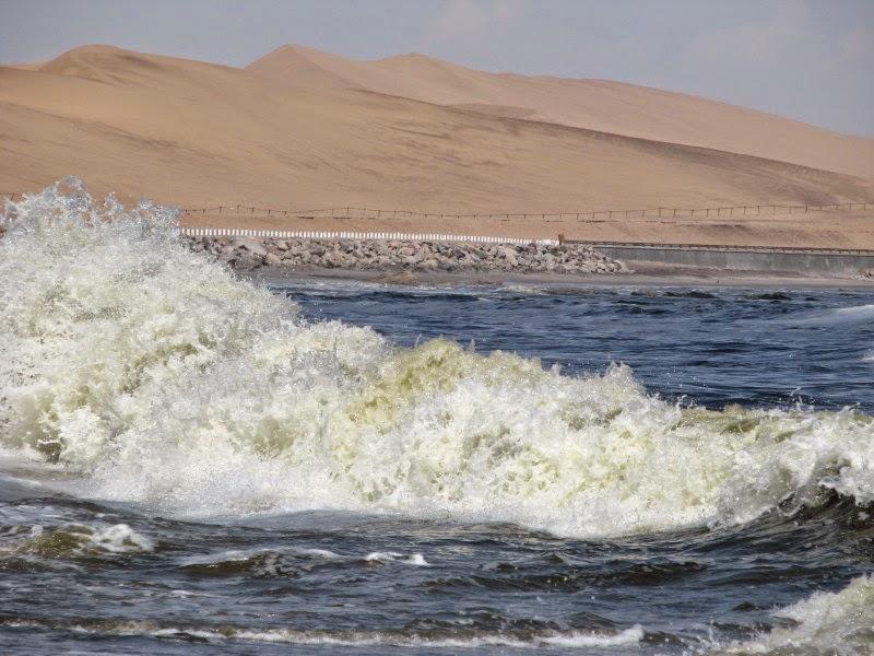 Namibia coast - sand and sea