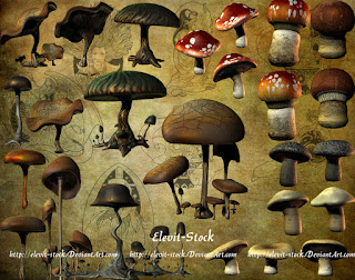 mushrooms clipart