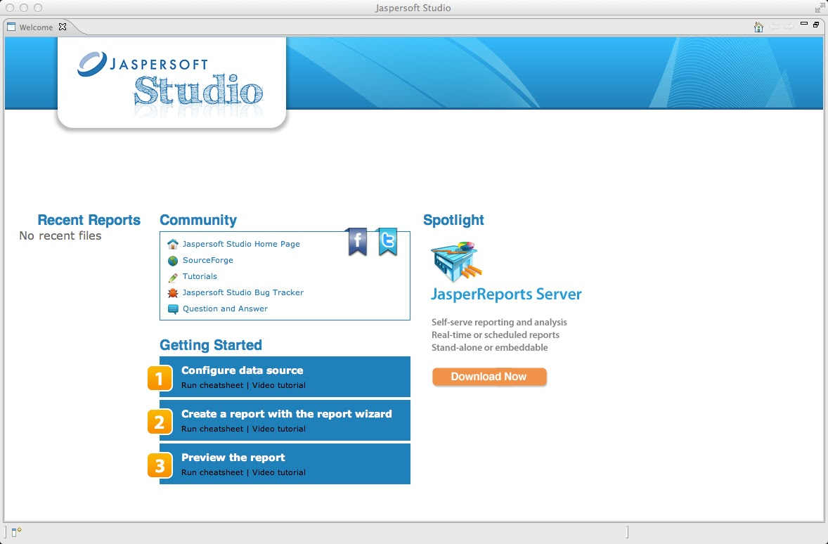 Jasperreports with reportserver the basics first step is to add a data connection to our demo datasource for this we assume that reportserver is running and has loaded the demo contents into its baditri Images