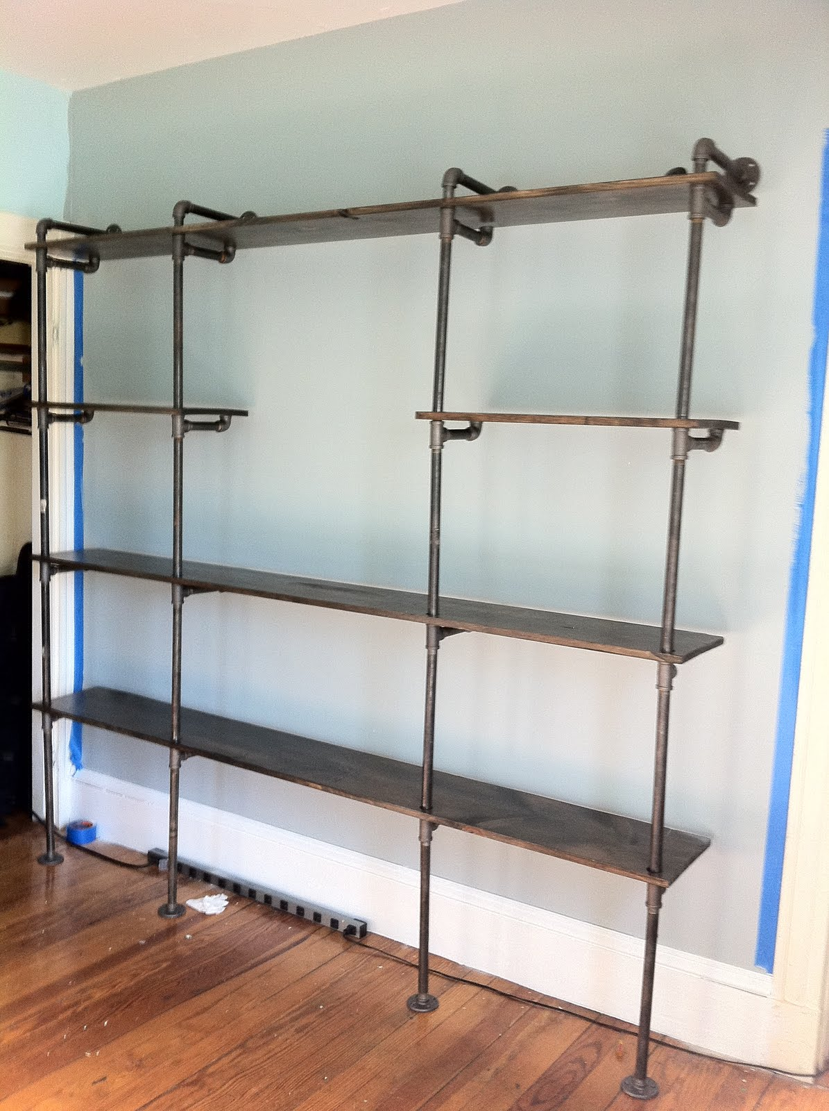 insideways shelving with character