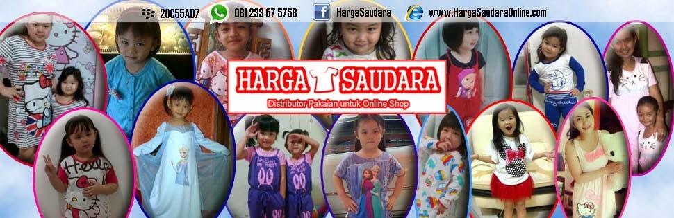 Harga Saudara - Grosir Baju Anak, Baju K-Pop, Baju Fashion, Baju Muslim, dan Grosir Sprei