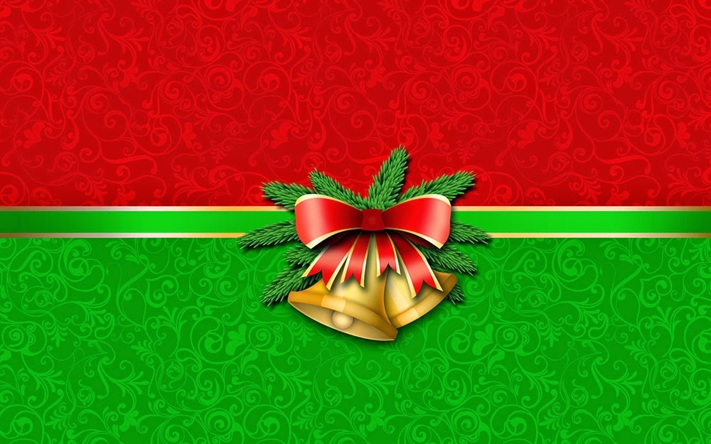 Christmas Bell Ribbon New Years Desktop Background Images