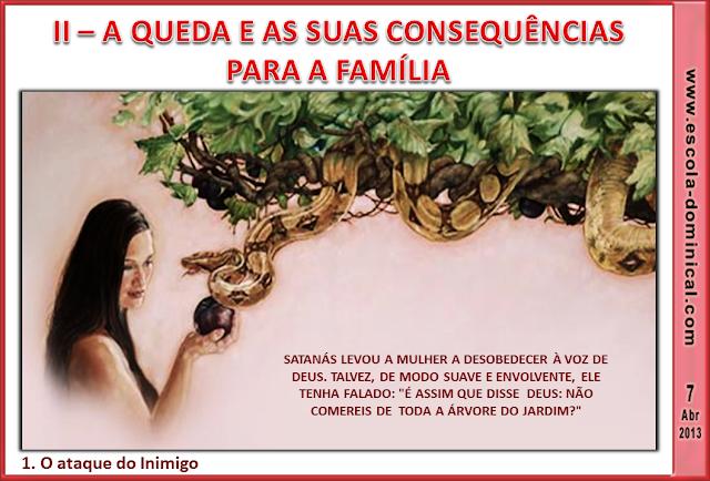 casamento jardim do inimigo:Escola Bíblica Dominical: LIÇÃO 1 – FAMÍLIA, CRIAÇÃO DE DEUS