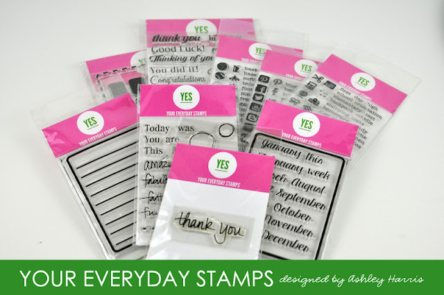 Your Everyday Stamps by Ashley Harris. Samples designed by Jen Gallacher at www.jengallacher.com