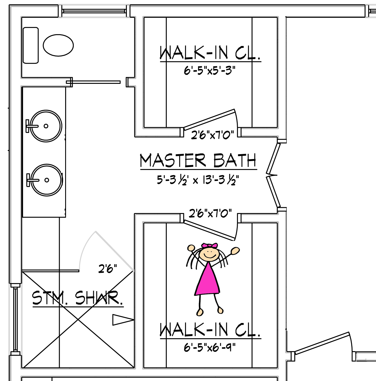 Great You Can Declare That She Who Manages The House Design Shall Get The  Bigger Closet With 5 X 6 Walk In Closet Design.