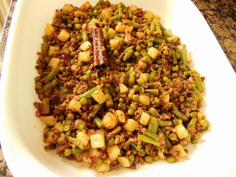 Ground Lamb with Peas,