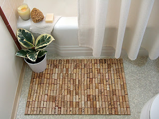 wine cork project ideas bath mat