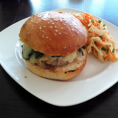 Asian Pork Burgers:  Ground #pork mixed with my favorite Asian-inspired flavors, formed into patties, and resting on a sesame seed bun.  #burgers
