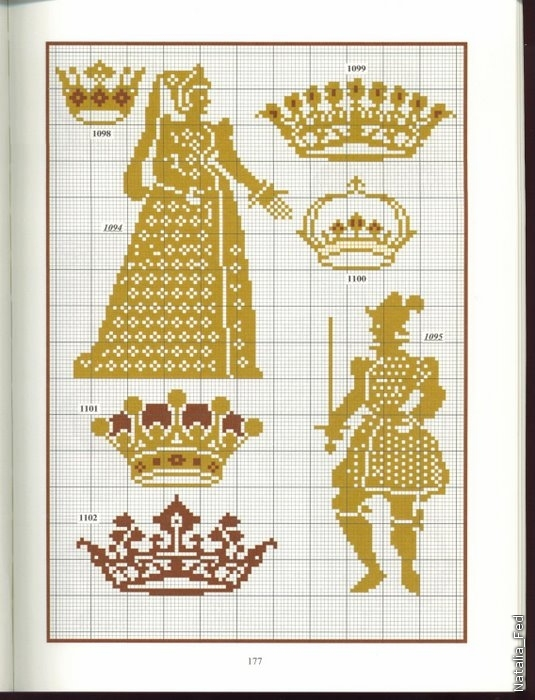и короны - схемы вышивки