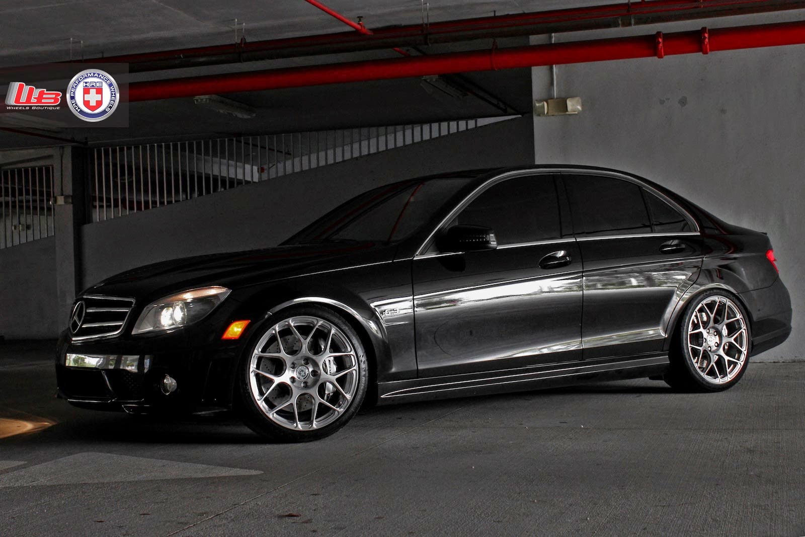 mercedes benz w204 c63 amg on hre performance wheels benztuning. Black Bedroom Furniture Sets. Home Design Ideas