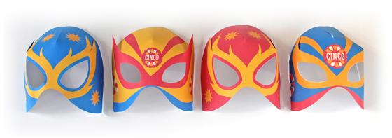 free luchador masks, cinco de mayo