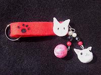 süßer Schlüsselanhänger Katze
