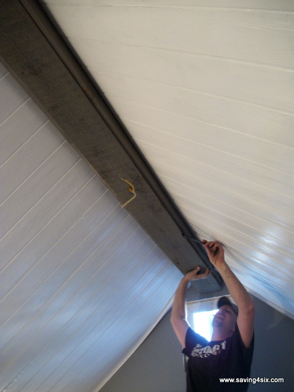 How to make a fake ceiling beam for Box beam ceiling