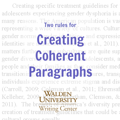 Two rules for creating cohesive paragraphs