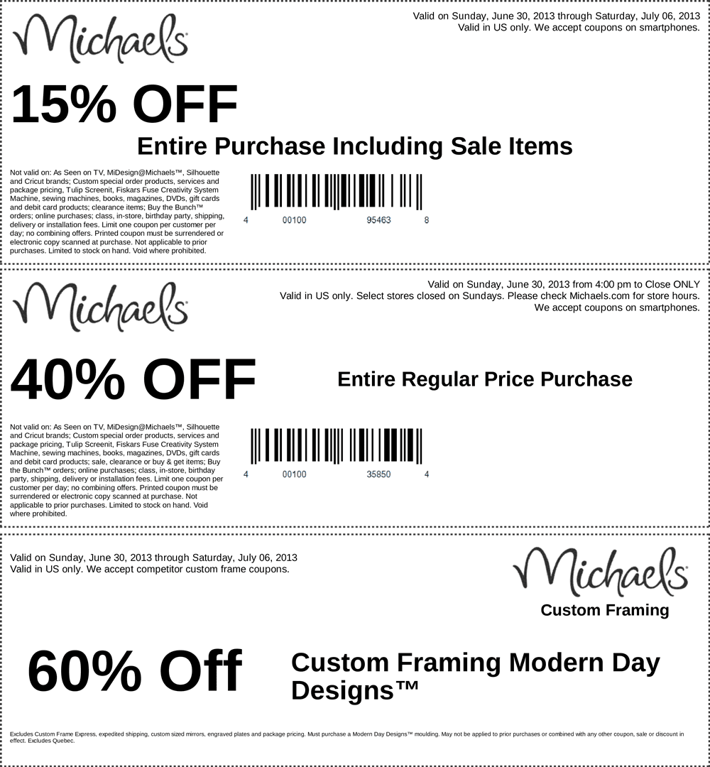 Michael coupon code