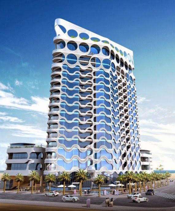 Modern architecture the pixel tower in dubai modern for Dubai architecture moderne