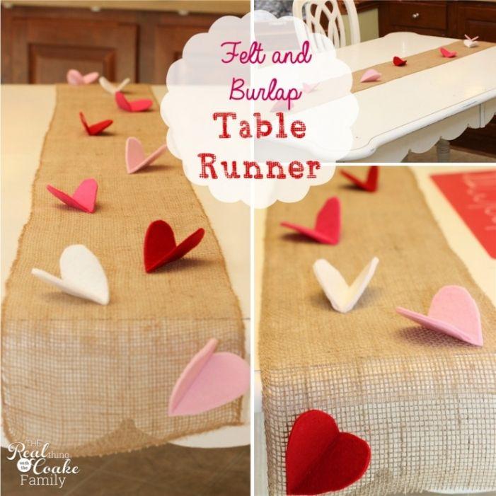 http://www.realcoake.com/2014/01/valentine-felt-burlap-table-runner.html