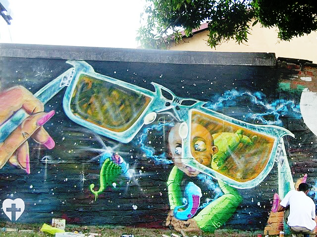 Street Art, Graffiti, Pastel Heart, South Africa, Street Art in South Africa