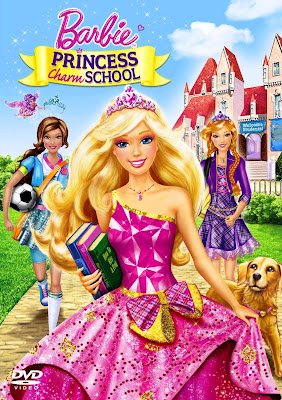 Poster Of Barbie Princess Charm School (2011) In Hindi English Dual Audio 300MB Compressed Small Size Pc Movie Free Download Only At worldfree4u.com
