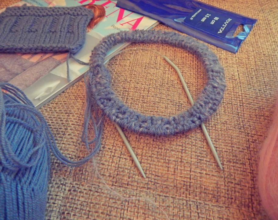 Полая резинка при вязании по кругу 37