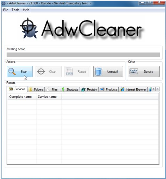 Screenshots Adwcleaner Utility