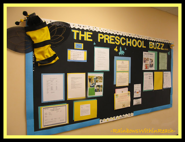 photo of: Buzz Bumble Bee Bulletin Board via RainbowsWithinReach