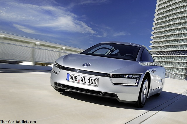 Volkswagen XL1 - the most aerodynamic production car ever - at the Geneva Motor Show!