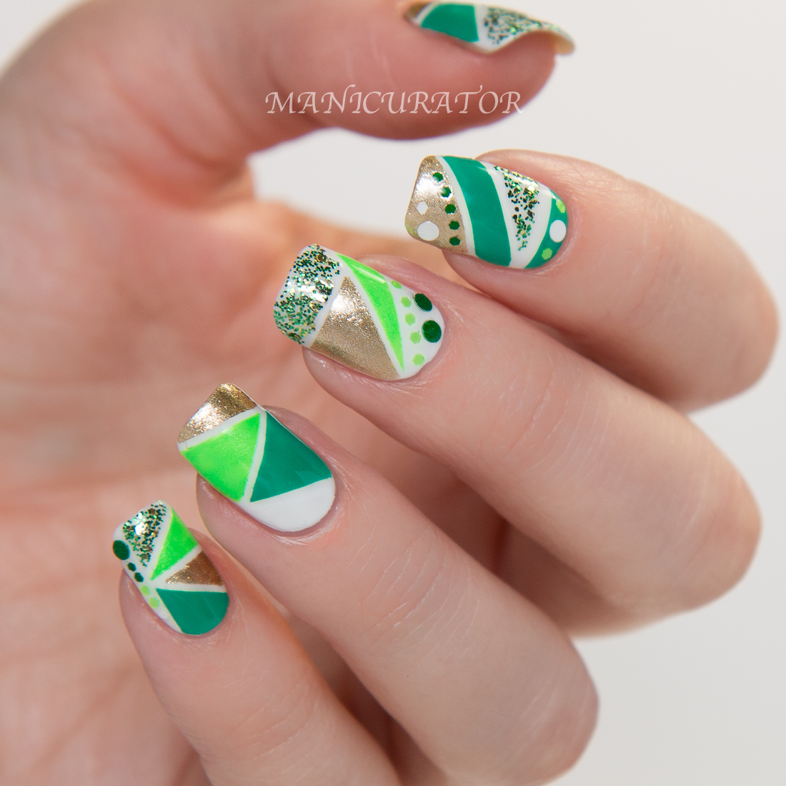 Salon Perfect St. Patrick\'s Day Nail Polish GIVEAWAY and Nail Art