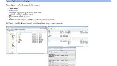 Tabacus Explorer, File Management