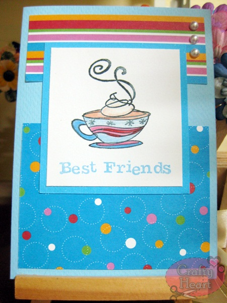Handmade Card - Coffee and Best Friends
