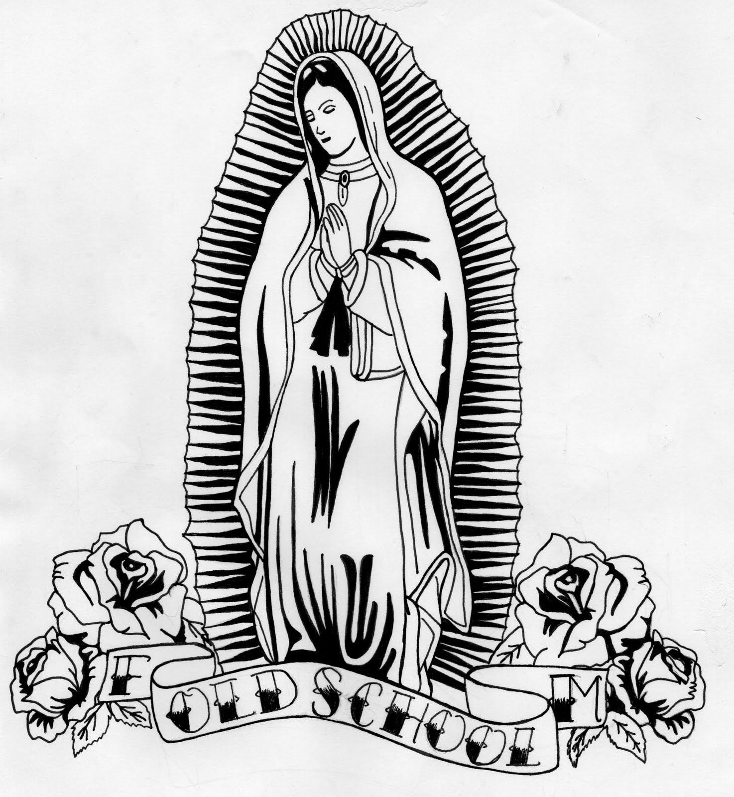 Virgen de Guadalupe image para dibujar - Imagui