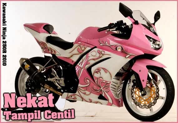 Kumpulan Foto Modifikasi Cinta Kawasaki Ninja 250R Motif Bunga Nan  title=