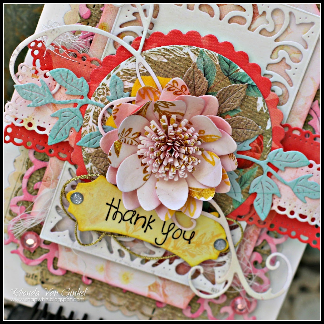Coved Rectangle Card for Cheery Lynn Designs by Rhonda Van Ginkel