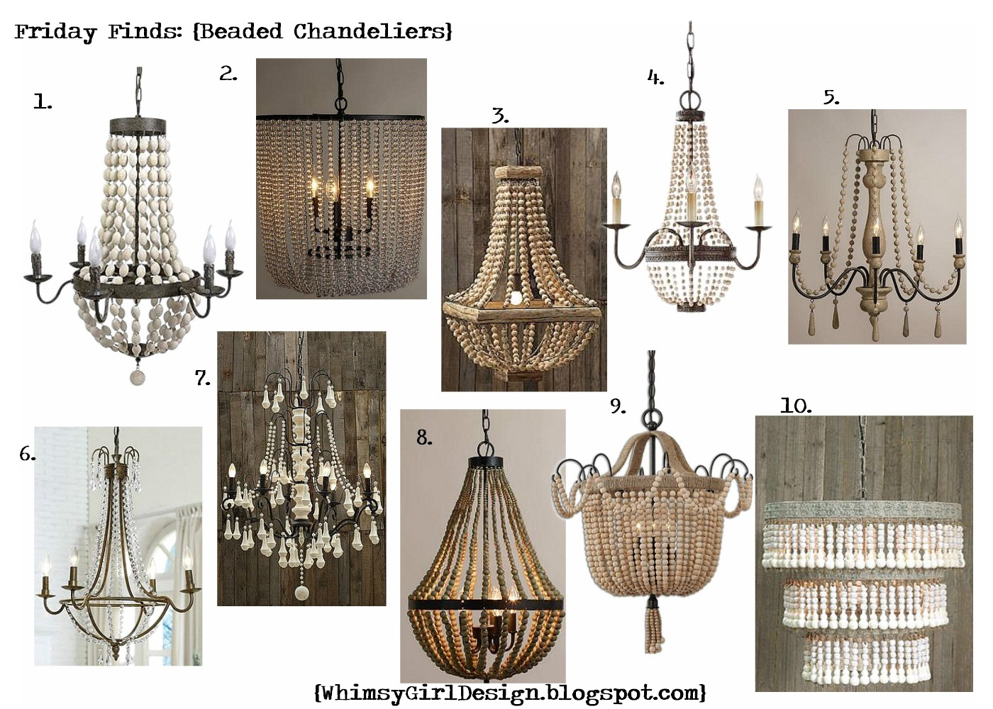 Whimsy girl friday finds beaded chandeliers click on description for source link arubaitofo Images
