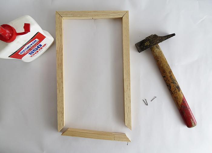 DIY minimal frame pendant lamp - Ohoh Blog