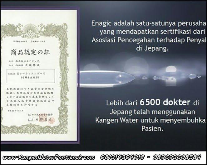 Lebih dari 6500 DOKTER menggunakan KanGen Water sebagai TERAPI KESEHATAN