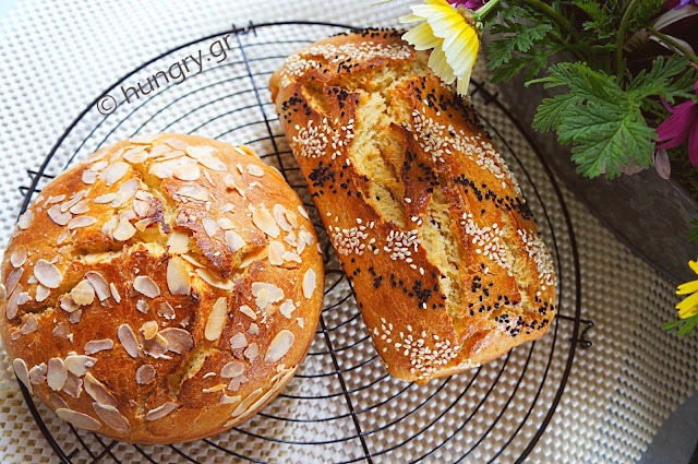 No Knead Greek Easter Brioche-Tsoureki