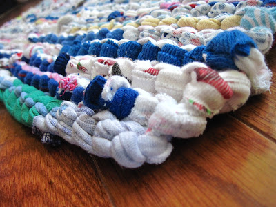 rag rug tshirts upcycled cotton knit