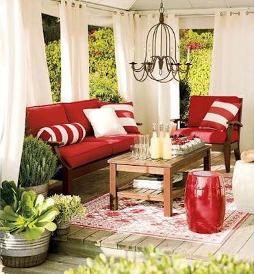 colores en la terraza